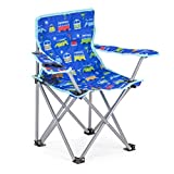 Board Masters Volkswagen Kids Folding Camping Chair - Includes Carry Bag and Drinks Holder - Blue