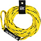 MESLE Tow-Rope Pro 4P 60', floating Towable Rope for 4-Person, yellow-black, Length 18.3 m 60', Polyethylen,...