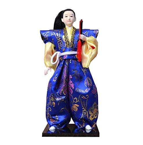 Black Temptation 12 'Bambole Samurai Giapponesi / Bambola Ninja Warrior / Regali / Decor / Ornamenti Lzakaya - B