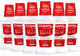 Colgate Optic White Whitening Mouthwash, Icy Mint , 8 Fl Oz (Pack of 6)
