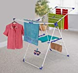 CLASSY 'N' COZY Cloth Drying Stand/Clothes Drying Rack Indoor and Outdoor Clothes Drying Racks/Foldable Clothes Rack Cloth Drying Stand With Extra Drying Capacity (ARIER-0.4-S)