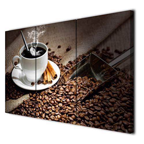 liafa Modulare Malerei HD-gedruckte Leinwand Poster Wohnzimmer 3 Panel Kaffeebohne Heißgetränke Tasse Kunstrahmen Home Wall Decor Bilder