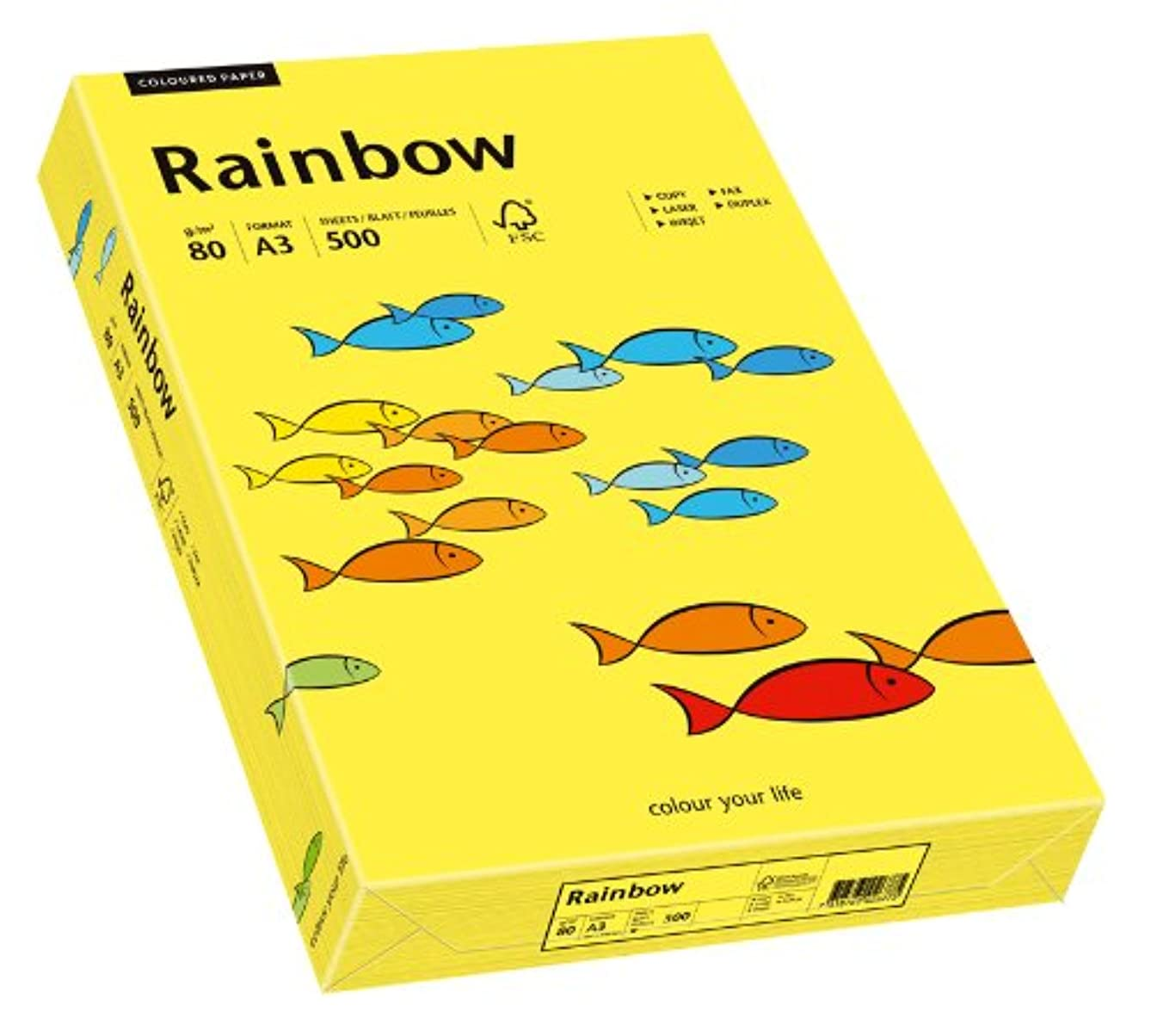 Papyrus Rainbow 88042322 Multi-Purpose Paper A3 80 g/m2 500 Sheets Mid Yellow
