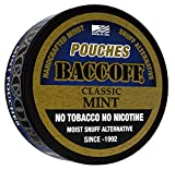 BaccOff, Classic Mint Pouches, Premium Tobacco Free, Nicotine Free Snuff Alternative (10 Cans)