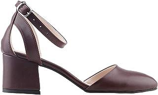 Ayakland 97544-384 Günlük 5 Cm Topuk Bayan Cilt Sandalet Ayakkabı BORDO