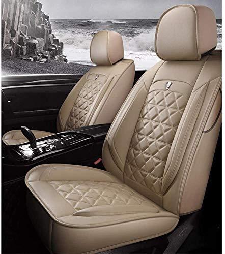 DTTN Fundas para Asiento de Coche Cuero Fundas de Asiento universales Auto Set Audi A3/A4/A5/A6/A8/Q3/Q5/RS4 BMW M6 F13M(2012) Fundas de Asiento Accesorios de Coche,Beige