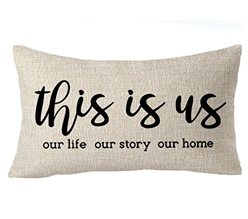 Feleniw This Is Us Our Life Our Story Our Home Home Sweet Throw Pillow Cover Cushion Case Cotton Linen Material Decorative Lumbar 12 X 20 Inches Buy Online In Botswana At Botswana Desertcart Com