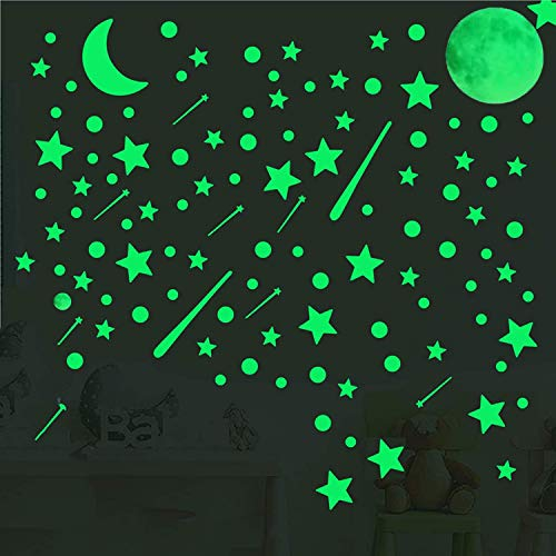 Glow in The Dark Stars for Ceiling,637PCS Glow in The Dark Stars and Moons Stickers for Kids...