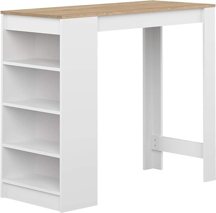 Temahome ramsay , tavolo bar, bianco (bianco/rovere), 115 x 50 x 102.7 cm 8080A2134X00