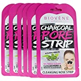Biovène Charcoal Pore Strips, Pack of 6 (.035 oz ea.) Instantly Cleans Clogged Pores, Removes Blackheads and Eliminates Impurities.