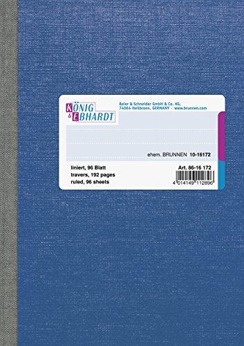König & Ebhardt 8616172 Geschäftsbuch / Kladde (A6, liniert, 70g/m², 96 Blatt, Klebebindung)