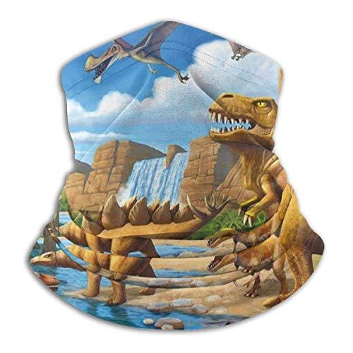 Lzz-Shop Adventure dinosaurus slangendoek sjaal wikkelsjaal slangsjaal voor vissen sport gezicht