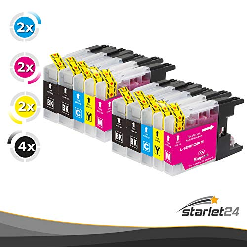 D&C - 10 cartuchos de impresora compatibles con Brother LC-1220, LC-1240, DCP-J525 W, MFC-J430 W, MFC-J5910 DW, MFC-J625 DW, MFC-J6510 W, MFC-J6710 DW, MFC-J6910 DW