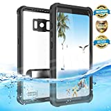 Samsung Galaxy S8 Waterproof Case, Effun IP68 Certified Waterproof Underwater Cover Dustproof Snowproof Shockproof Case with Kick Stand, PH Test Paper and Floating Strap for Samsung S8 (5.8inch) Black
