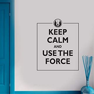 Vinyl Wall Lettering Stickers Quotes and Saying Keep Calm and Use The Force for Home Decoration