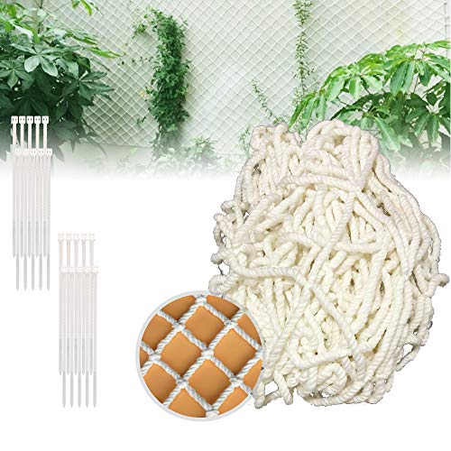 1 x 2.5m Climbing Plant Garden Grid Subnet Suitable for Perfect Growth of Cucumber Tomatoes and Vines Suitable for Gardens and Greenhouses with the Best Grid - white