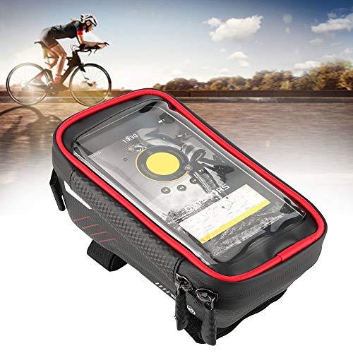 banapo Bolsa para Bicicleta, a Prueba de Golpes Fácil de operar, Bolsa para Cuadro de Bicicleta, para Regalos de Viaje Hogar al Aire Libre(Red)