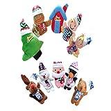 STOBOK Weihnachten Fingerpuppen Plüschtier Tannenbaum Spielzeug Handpuppe für Kinder 10 Stück -