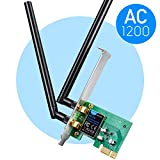 Cudy WE1200 Scheda di Rete WiFi PCIe 1200Mbps, Scheda WiFi pc Fisso, Dual Band 300/867 Mbps, 2.4Ghz/5Ghz Dualband, 2 Antenne Esterne