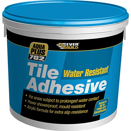 Everbuild 702 Water Resistant Wall Tile Adhesive, Off White, 16 kg
