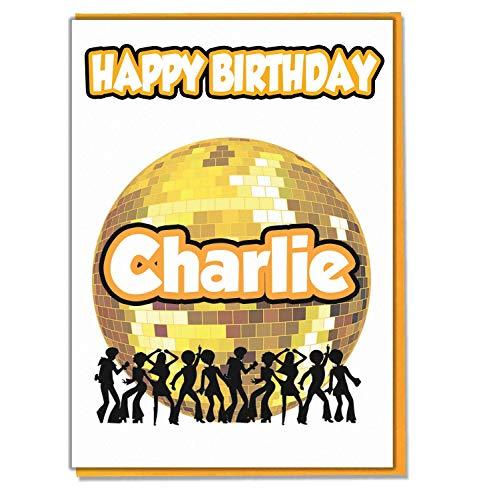 AK Giftshop gepersonaliseerde volwassen disco dansen thema verjaardagskaart - elke naam leeftijd relatieve