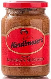 Case of Handlmaier / Haendlmaier Sweet Bavarian Mustard (12 x 13.4 oz Glass Jars)