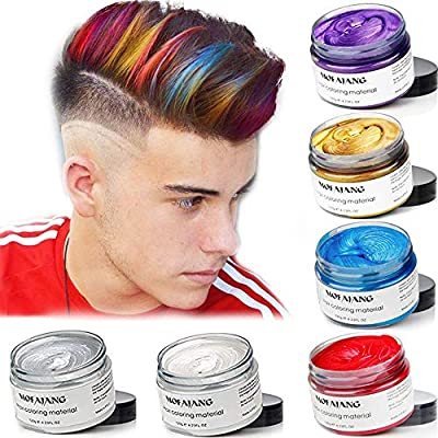 Unisex Disposable Temporary Hair Coloring Styling Hair Mud Disposable Hair Coloring Hair Wax Disposable Hair Cream Halloween Dress Up