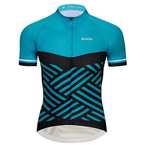 Herren Radtrikot Kurzarm Bike Shirts und Trägerhose Set Sportbekleidung