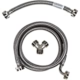 Certified Appliance Accessories Steam Dryer Installation Kit [Steam Dryer Hose with 90 Degree Elbow, Y Connector and Inlet Adapter Hose], 5 Feet