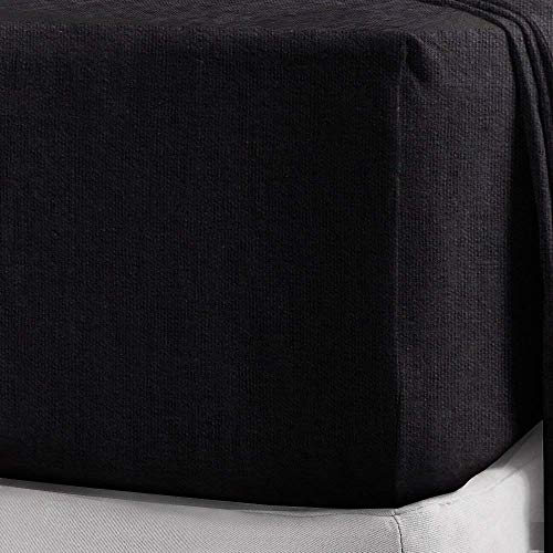 Divine Textiles 100% Brushed Cotton Flannelette 40CM/16 Extra Deep Fitted Sheets in 14 Colours, Single - Cream