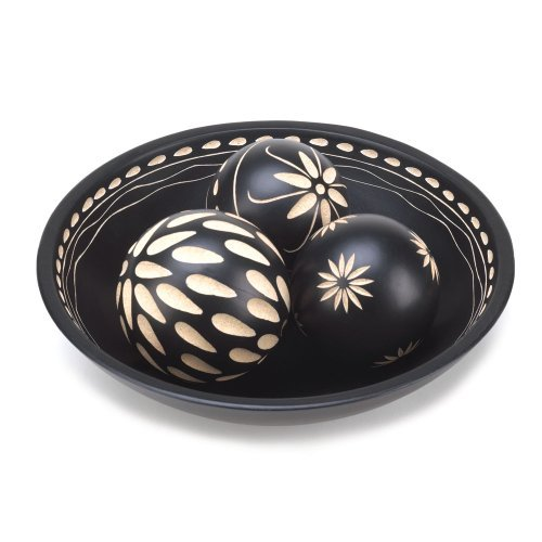 VERDUGO GIFT CO Ebony Decorative Ball Set