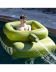Inflatables zwembad float, opblaasbare tank zwembad float, pooltank type water spuitring, comfortabele zomer drijvend zwembad speelgoed