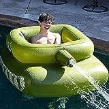 LVLUOKJ Pool Aufblasbare Hängematte Schlauchboot Mit Aufblasbarem Tank, Wassersprühring Vom Typ Pooltank,Bequemes Sommer-Schwimmbecken-Spielzeug