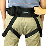 Vive Transfer Belt with Leg Loops - Medical Nursing Safety Gait Assist Device - Bariatrics, Pediatric, Elderly, Occupational and Physical Therapy - Long Strap and Quick Release Metal Buckle - 55 Inch