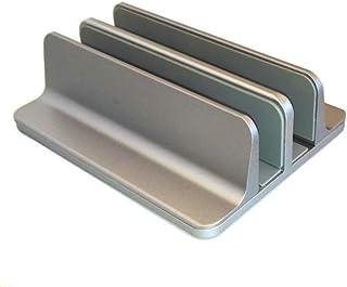 Soportes Laptop Vertical De 2 Ranuras Laptop Stand con Ajustable Estante De Aluminio De Aleación De Almacenamiento De Ofic...