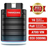 Thinkdiag OBD2 Scanner Bluetooth, All System Bidirectional scan Tool OE Level Diagnostic Tools with ECU Coding,16+ Service Functions All Software 1 Year Free fits for iPhone & Android