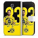 Etui Compatible avec Samsung Galaxy S4 Etui Folio Etui magnetique Borussia Dortmund BVB Bundesliga