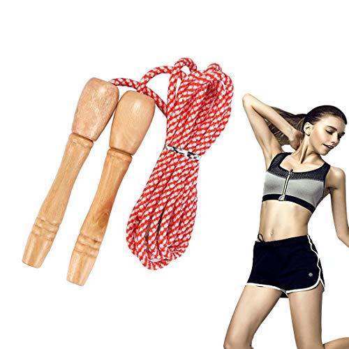 KOMUSII Springseil, Komfortablen & Anti-Rutsch Griffen, Licht, Springseile Für Workout, Springen Seil mit Cartoon Holzgriff, Seilspringen für Fitness&Training, Springseil für Kinder