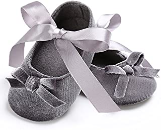 FemmeStopper Baby Shoes Bow with Velvet Born Infant Baby Girls High Quality Shoes Princess Blue Latest Baby Girl Shoe