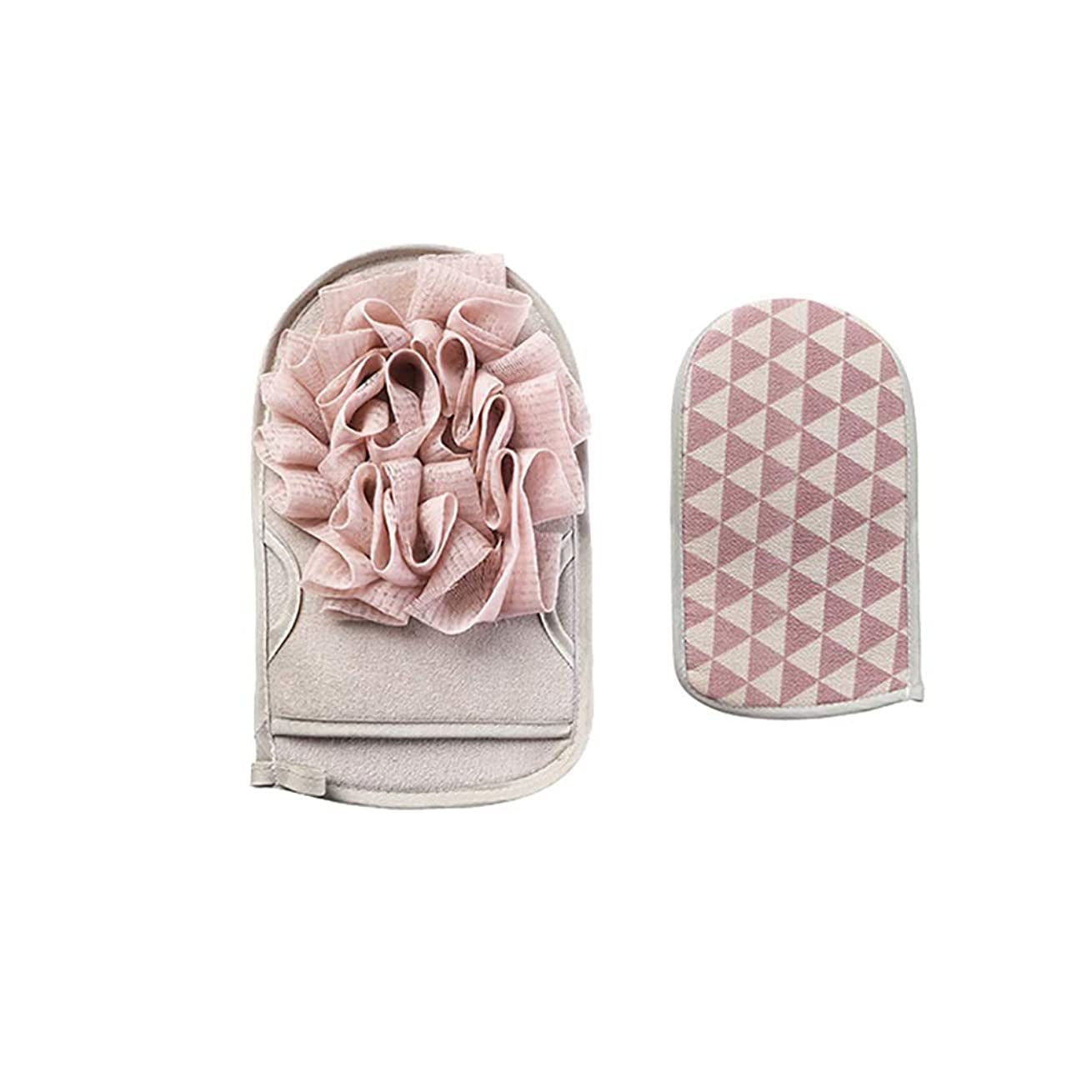 スカート全能食事を調理するユニセックス家庭用両面お風呂手袋お風呂洗面、両面植物繊維、柔らかく乾燥しやすい、痛みを伴わないバスタオル (Color : Gray)
