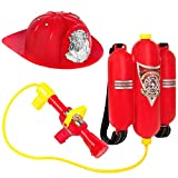 Best Choice Products Pretend Toy Firefighter Playset w/ Backpack Water Gun Blaster and Helmet