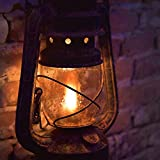 Sleep in a Refuge: Kerosene Lamp in Storm