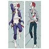 Templom SIX Anime My Hero Academia - Funda de almohada de doble cara de piel de melocotón, funda de...