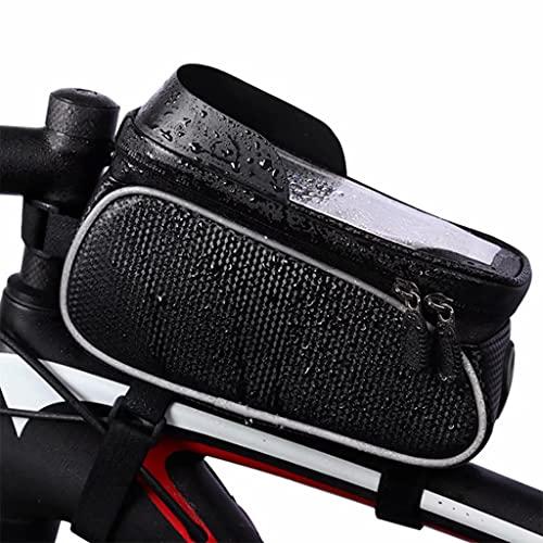 YZX Bolsa Bicicleta, montaña/Bicicleta de Carretera a Caballo Frente Haz Bolsa, Tubo Impermeable Shell Duro de Bicicletas Superior de la Bolsa, Pantalla táctil del teléfono del Bolso del Manillar