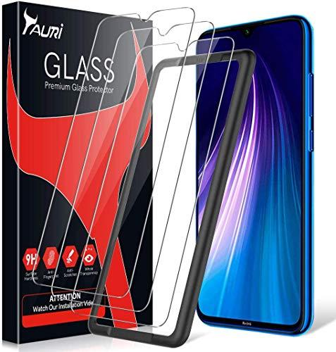 TAURI 3 Pack Protector de Pantalla para Xiaomi Redmi Note 8 Cristal Templado Sin Burbujas Cobertura Completa 9H Dureza Vidrio Templado HD Protector Pantalla para Xiaomi Redmi Note 8 Pro