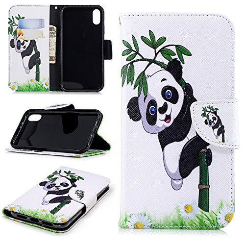 SHIEID Funda para iPhone 9 Plus Funda Pintado Case Faux Cuero Billetera Funda para iPhone 9 Plus con Stand Función(No:7)
