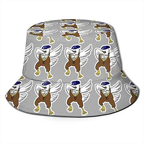 Unisex Bucket Hat Dabbing Eagle Animales Divertidos Impreso Sombrero para el Sol...