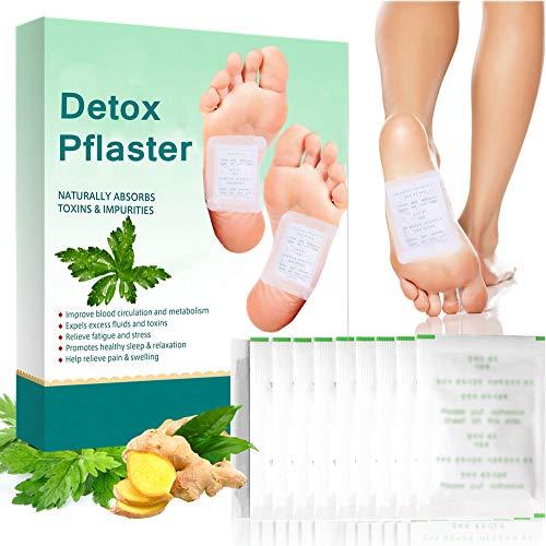 Detox Pflaster Fuß, Detox Fußpflaster, Entgiftungspflaster Füße, Wormwood Foot Patch, Natürliche Foot Detox Pads, Fördern die Durchblutung, lindert Müdigkeit und Verbessern den Schlaf, 10 Stück