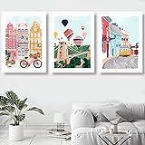 Carteles y copias de ciudades nórdicas de París, Irlanda, Marruecos, Nueva York, lienzo artístico para pared para decoración del hogar de la sala