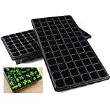 10 Pack Seed Starter Kit, 72 Cell Seedling Trays Gardening Germination Plastic Tray Nurser...